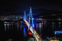 Dolsan bridge at night