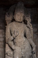 Statue of Vishnu. Chaturbhuj Temple of the Southern Temple Group in Khajuraho