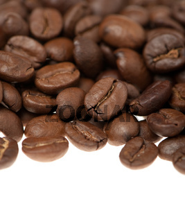 Heap of grains of coffee