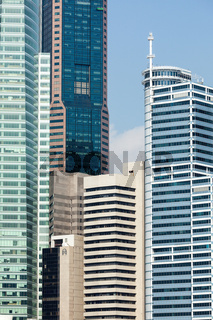 Urban buildings skyscrapers background. Singapore