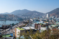 Downtown Yeosu Viewed from top