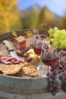 Vesper mit Wein in Südtirol