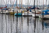 Segelboote 002. Eckernfoerde. Deutschland