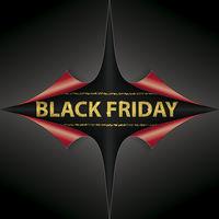 Scrolled Paper Cover 4 Corner Golden Black Friday