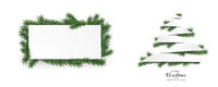 Christmas White Paper Stripes Tree Green Twigs Header