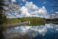 Neye reservoir, Wipperfurth, Bergisches Land, Germany