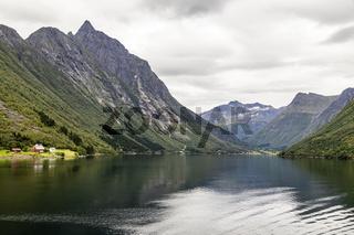 Norangsfjorden in Norwegen, Norway