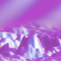 Pink 3D wavy forms. Sound wave abstract background.