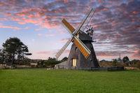 Windmill, Nebel, Amrum, Germany