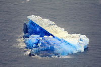 Blue Arctic icebergs