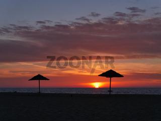 Sonnenuntergang am Strand von Piscinas