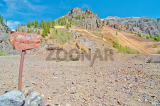 Ruins of a Silver Mine in Silverton, in the San Juan Mountains in Colorado
