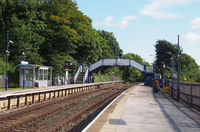 view of the railway station building at arnside near grange over sands in cumbria