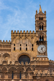 Clock Tower of the Cathedral of Palermo, Sicily