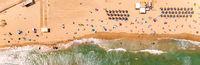 Turquoise sea and sandy beach. Spain