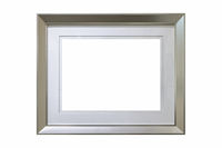 aluminum picture frame isolated