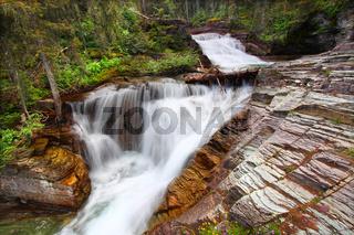 Glacier National Park Waterfall