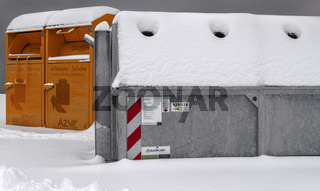 Winter in der Stadt - Recycling