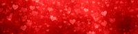 wide modern red hearts background banner