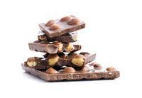 Nutty chocolate with hazelnuts.