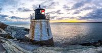 Sunset at Castle Hill Lighthous. Newport, Rhode Island