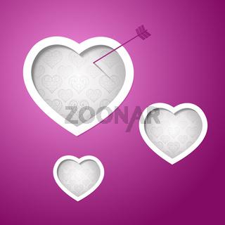 Valentines day card design background