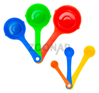 Set Of Isolated Measuring Spoons