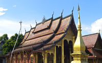 Staffeldach eines Tempels, Wat Sibounheuang, Luang Prabang, Laos