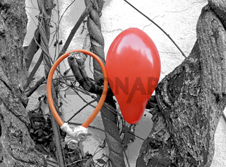 roter Luftballon