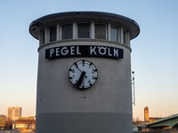 Köln Pegel at Rhine River Kilometer 688 - Köln