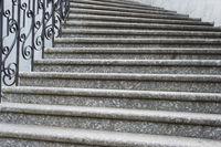Big marble curve stairs  Kiev
