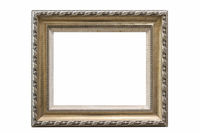 retro elegant picture frame isolated
