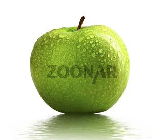 wet green apple