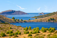 Amazing Kornati Islands national park archipelago landscape view