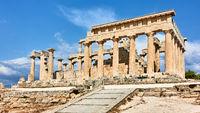 Temple of Aphaea in Aegina in Greece