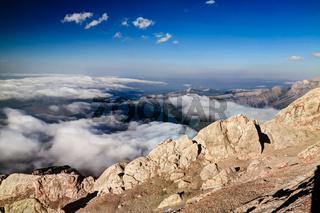 Panorama of Schalbus-Dag mountain, Dagestan, Caucasus Russia