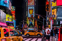 Night view of the New York Times Square (TimesSquare)