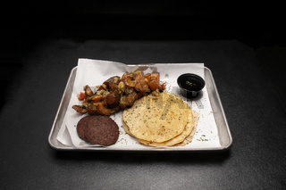 Pancakes Sausage and Home Fries