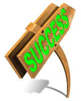 Wooden Success Sign