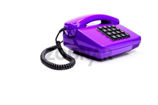 Klassisches lila Telefon aus den Achtzigern