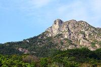 Lion Rock, lion like mountain in Hong Kong, one of the symbol of Hong Kong spirit