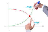 Concept of proft and loss with businessman