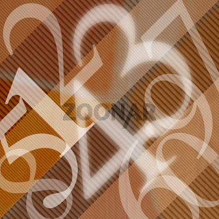 123 Numbers Abstract Background