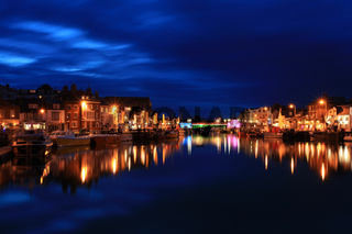Harbour at twilight