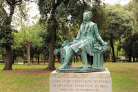 Rome, monument to Pushkin