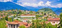 Town of Belaggio on Como Lake panoramic view
