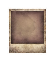 Old grunge instant photo frame isolated on white
