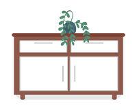 Cabinet semi flat color vector object