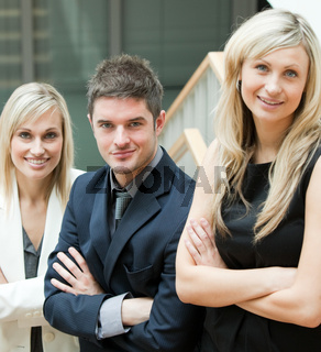 Young Business People with folded arms