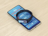 Smartphone and fitness tracker